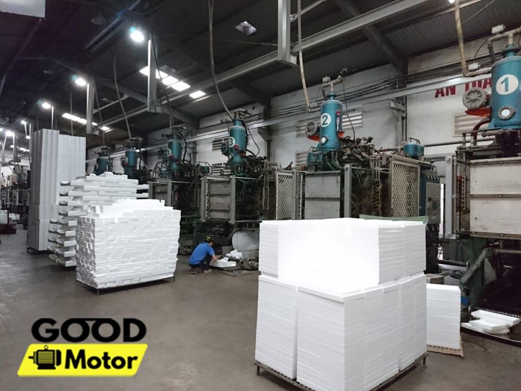 Quá trình sản xuất nhựa xốp